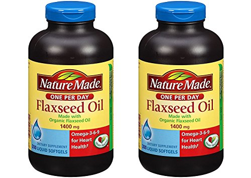 Nature Made Organic Flaxseed Oil 1400 mg 300 Softgels